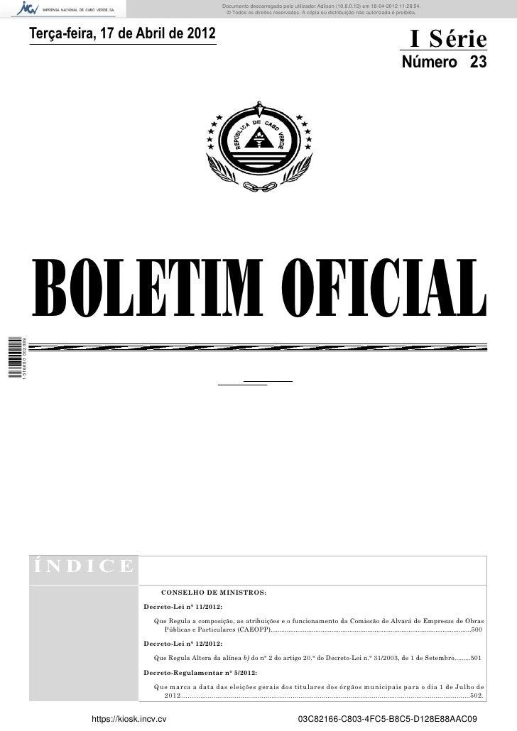 Documento descarregado pelo utilizador Adilson (10.8.0.12) em 18-04-2012 11:28:54.                                        ...