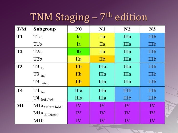 TNM Staging – 7th edition<br />