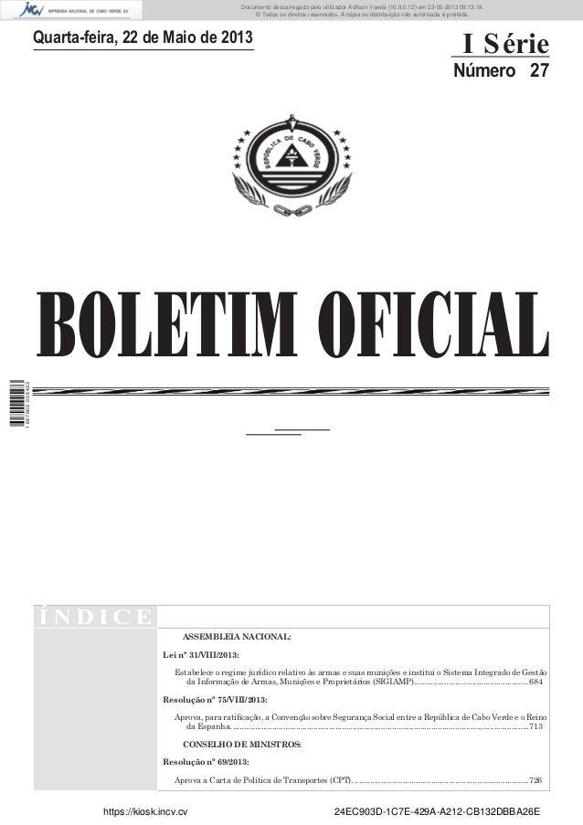 Documento descarregado pelo utilizador Adilson Varela (10.8.0.12) em 23-05-2013 09:13:18. © Todos os direitos reservados. ...