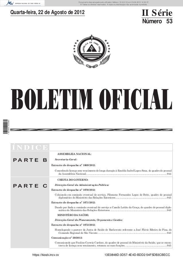 Documento descarregado pelo utilizador Adilson (10.8.0.12) em 23-08-2012 14:32:37.                                        ...