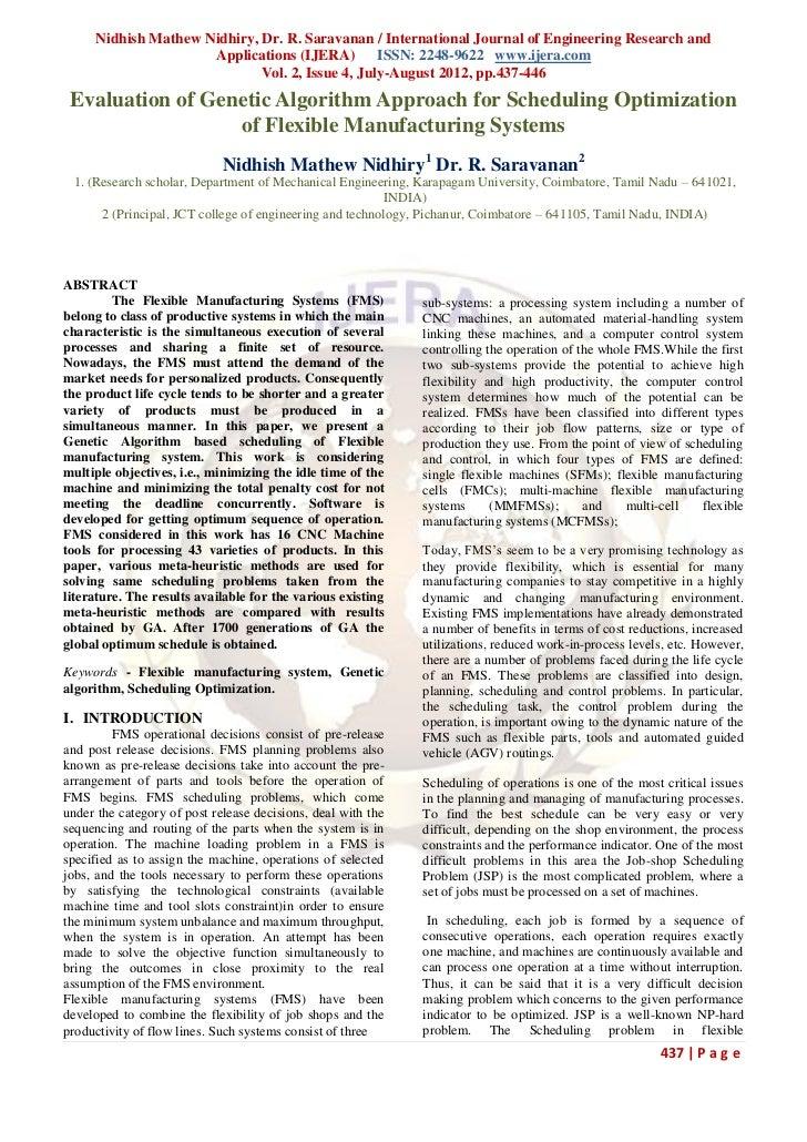 Nidhish Mathew Nidhiry, Dr. R. Saravanan / International Journal of Engineering Research and                     Applicati...