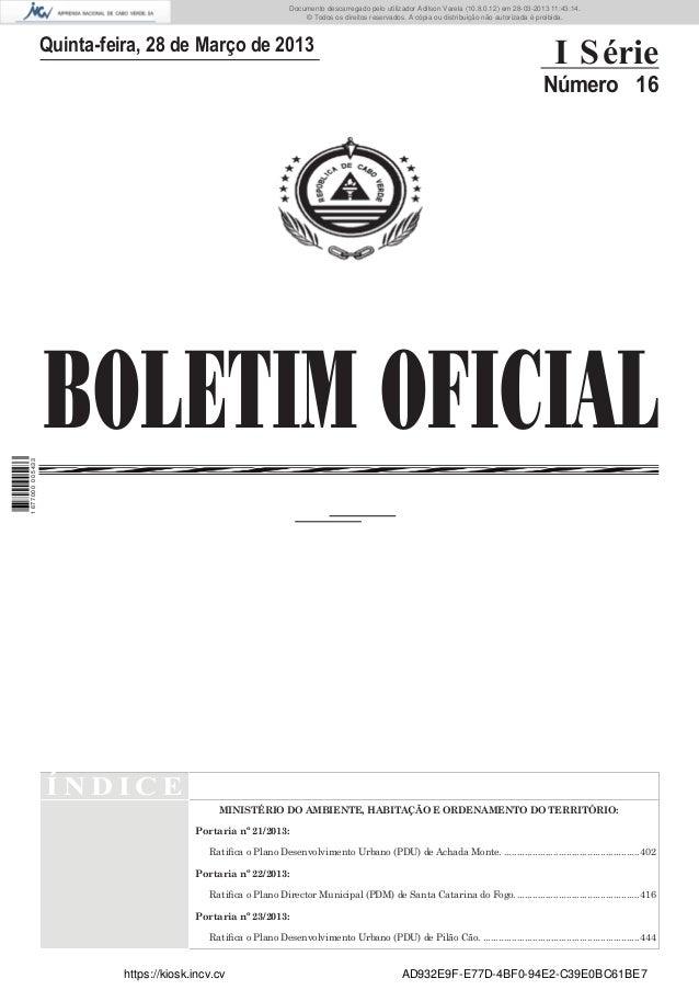 Documento descarregado pelo utilizador Adilson Varela (10.8.0.12) em 28-03-2013 11:43:14. © Todos os direitos reservados. ...