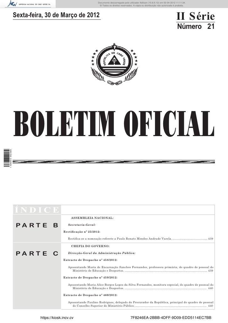 Documento descarregado pelo utilizador Adilson (10.8.0.12) em 03-04-2012 11:11:34.                                        ...