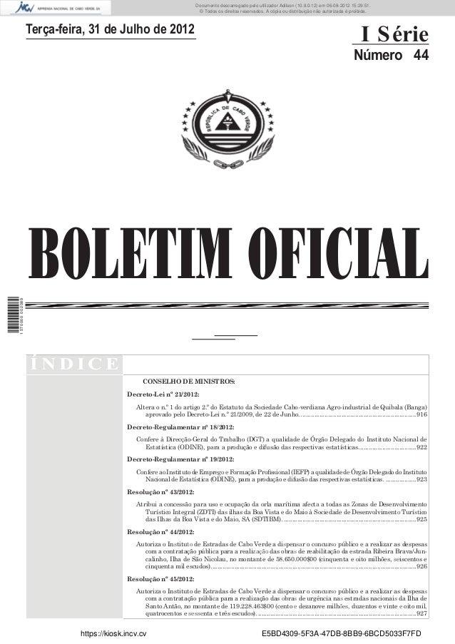 Documento descarregado pelo utilizador Adilson (10.8.0.12) em 06-08-2012 15:29:51.                                        ...