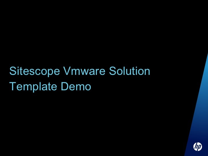 Breakout hp discover session 3400 for Sitescope templates