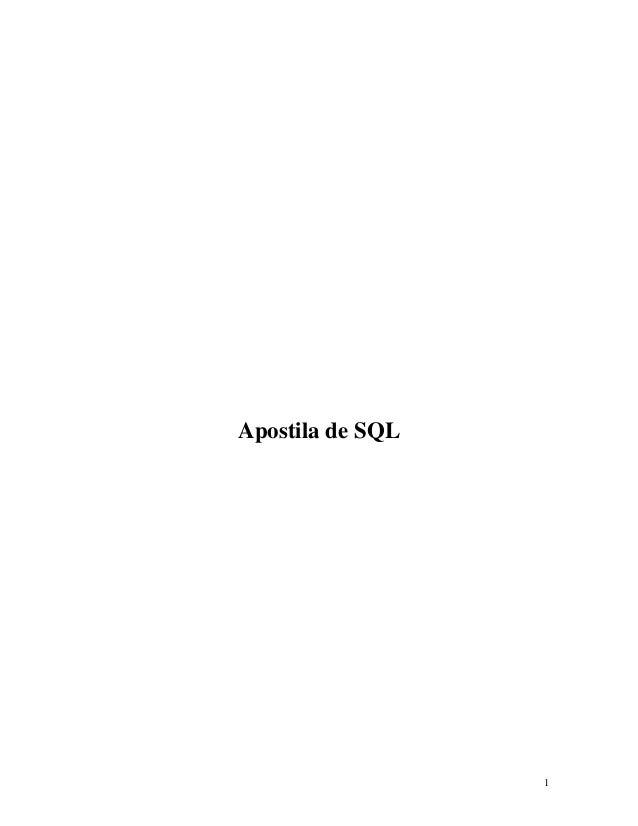 Apostila de SQL  1