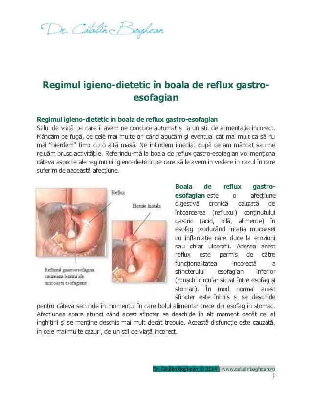 Dr. Cătălin Boghean © 2014 | www.catalinboghean.ro 1 Regimul igieno-dietetic în boala de reflux gastro- esofagian Regimul ...