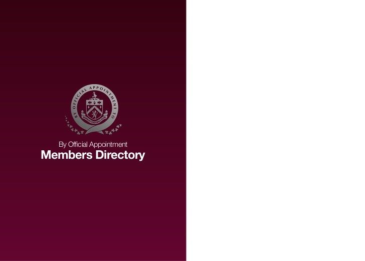 By Official AppointmentMembers Directory