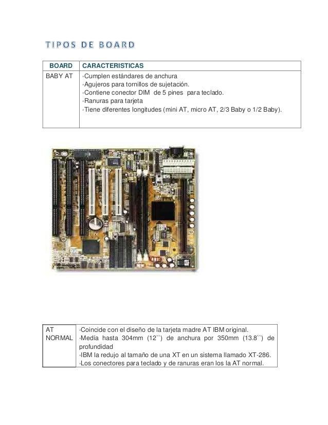 AT NORMAL  *Coincide con el diseño de la tarjeta madre AT IBM original.  *Medía hasta 304mm (12``) de anchura por 350mm ...