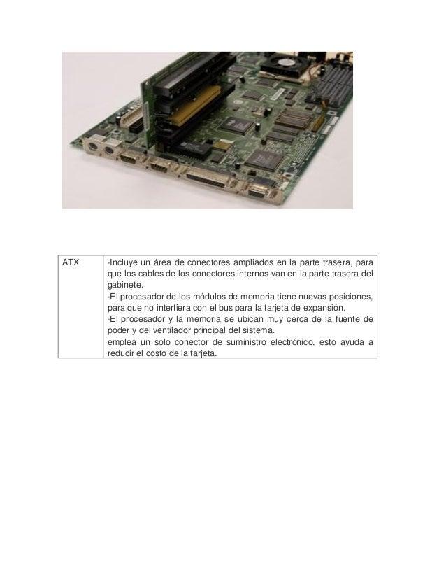 ATX  *Incluye un área de conectores ampliados en la parte trasera, para que los cables de los conectores internos van en ...