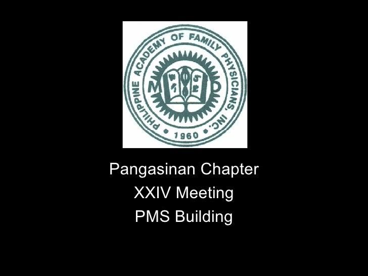 Pangasinan Chapter XXIV Meeting PMS Building