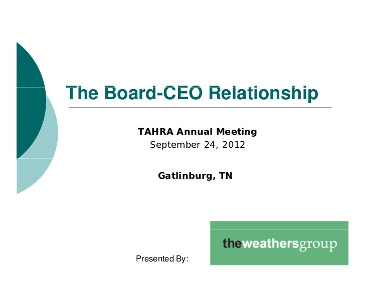 ceo and board of directors relationship