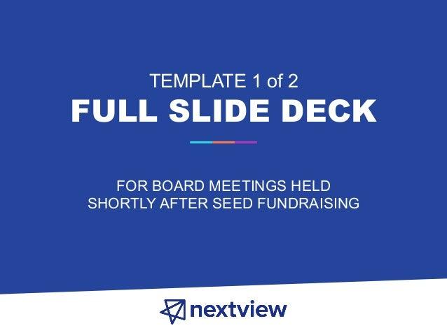 startup board deck templates 2 0 nextview