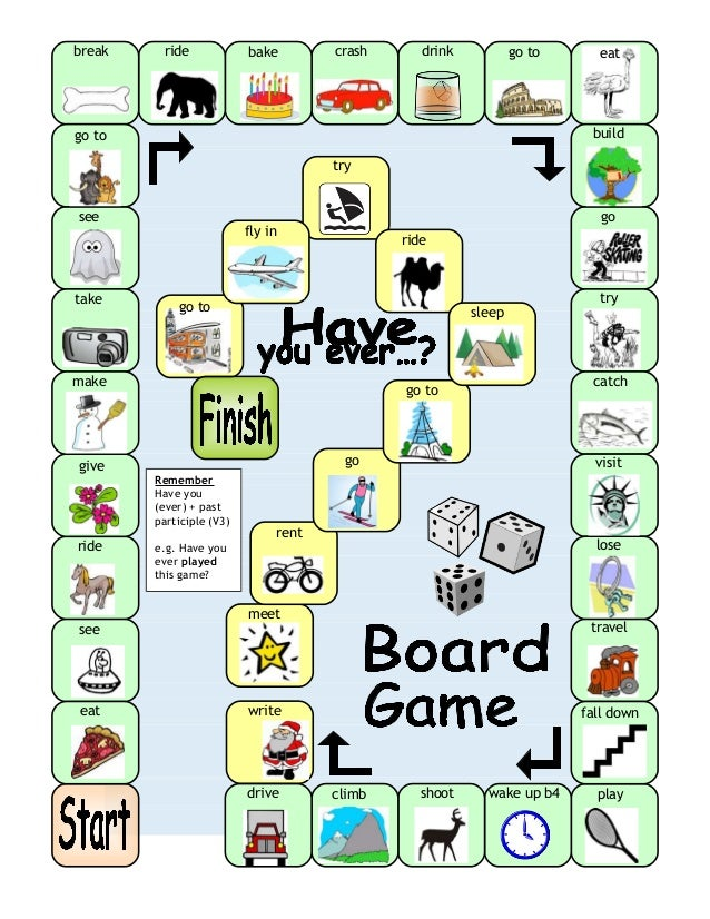 prensent tenses board game A fun board game that will practice students to make sentences in present  progressive tense players need a dice and marker chips to play the.