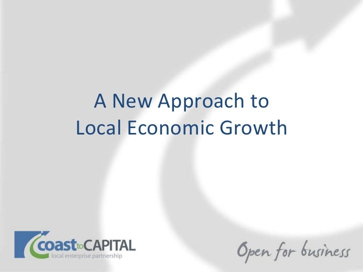 A New Approach to Local Economic Growth