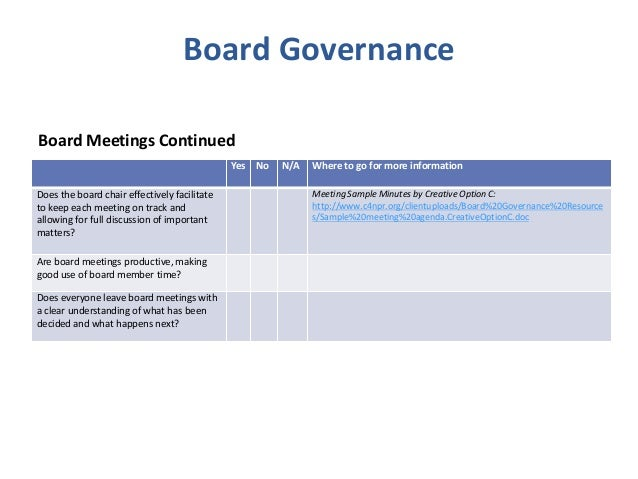 Board governance & nonprofit best practice checklist