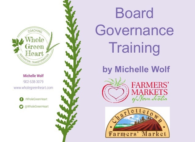 Board Governance Training by Michelle Wolf
