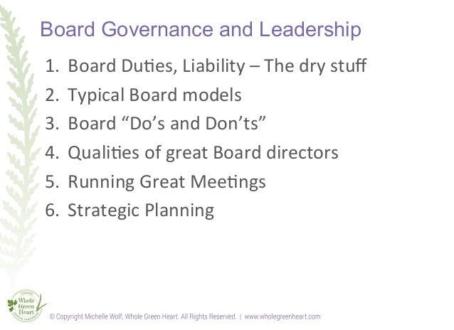 Board governance training slideshow Slide 2