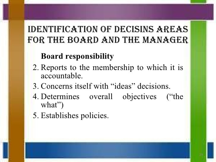 the board and management relationship