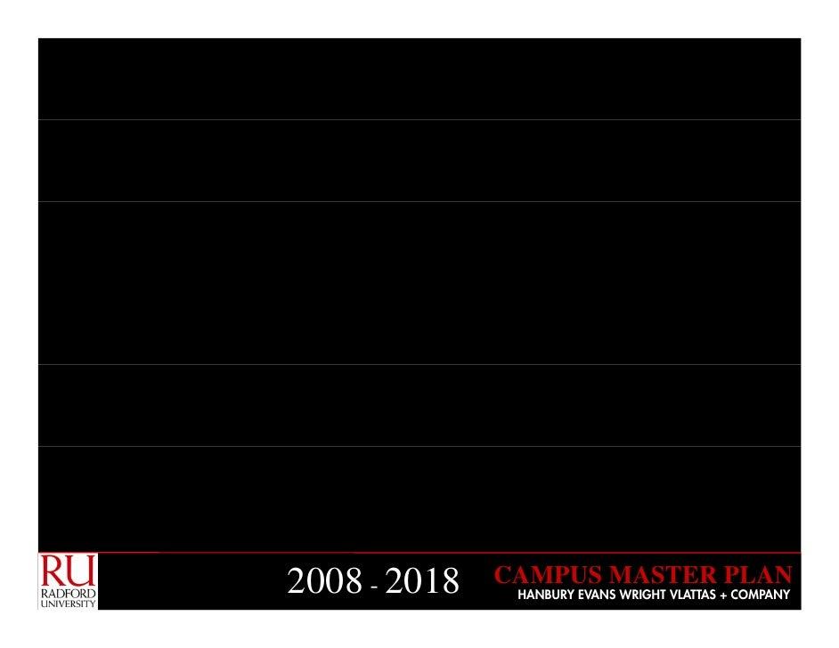 CAMPUS MASTER PLAN 2008 - 2018    HANBURY EVANS WRIGHT VLATTAS + COMPANY