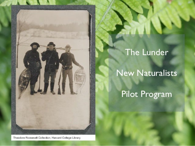 The LunderNew Naturalists Pilot Program