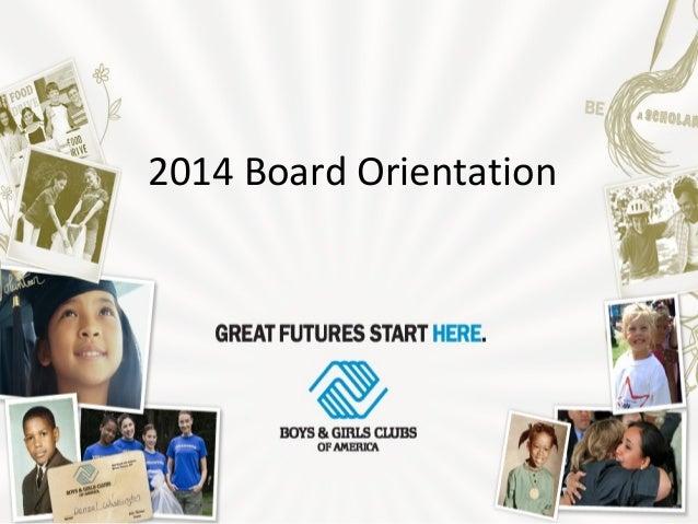 2014 Board Orientation