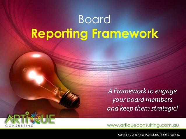 Board  Reporting Framework
