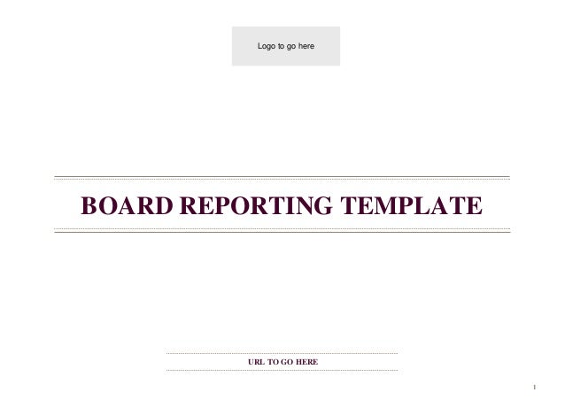 Board reporting template – Board Report