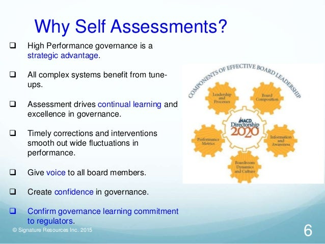 Board Self Assessment Approaches