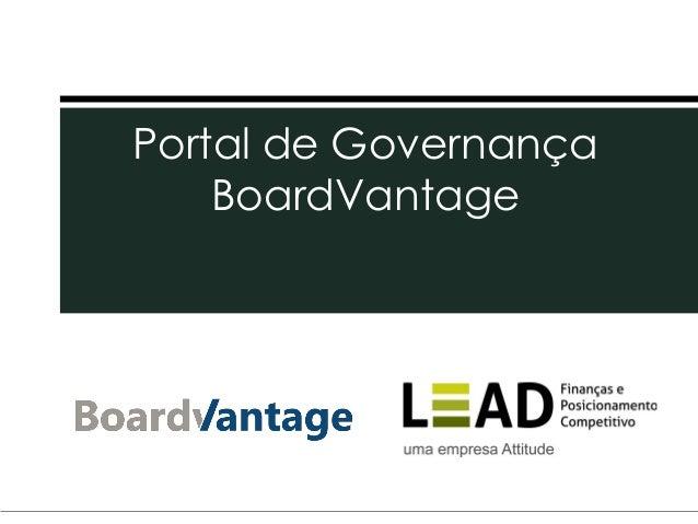 Portal de GovernançaBoardVantage