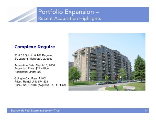 Real Estate Investment Trust : Alhuda cibe presentation on boardwalk real estate