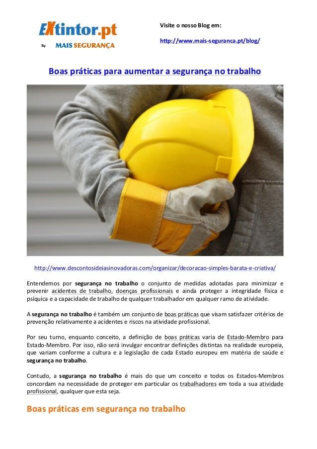 Boas  práticas  para  aumentar  a  segurança  no  trabalho   ...