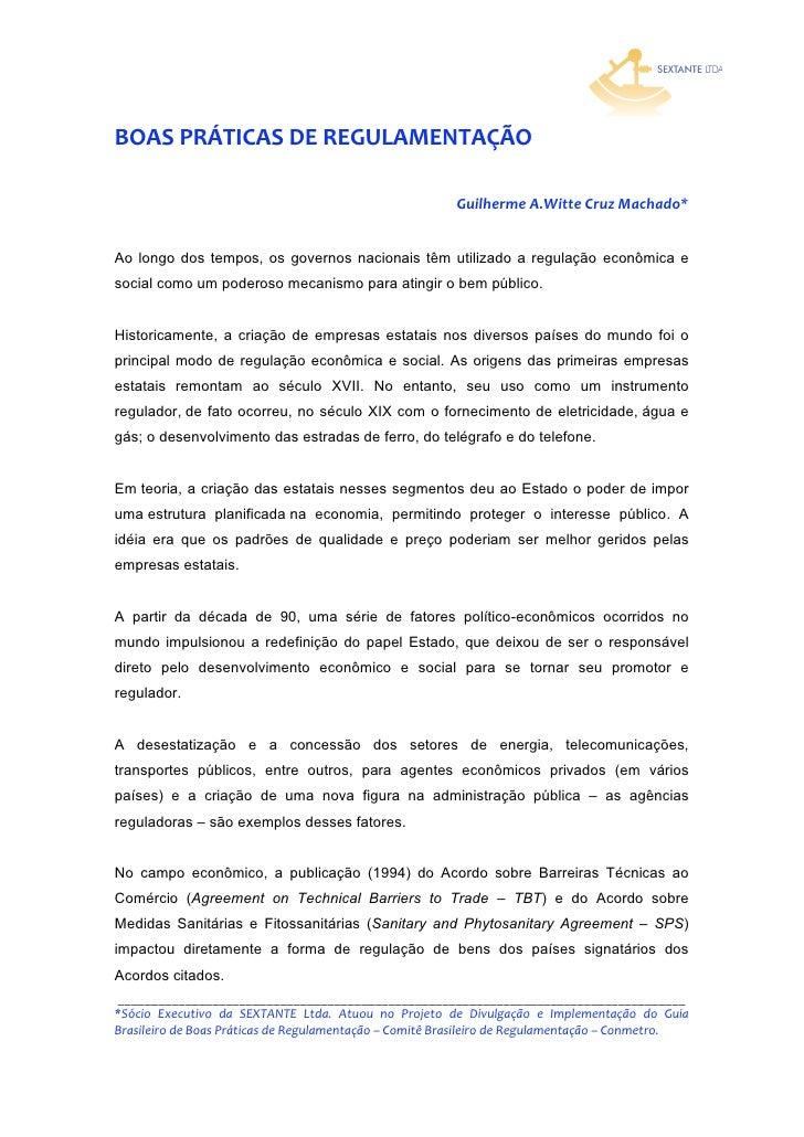 BOASPRÁTICASDEREGULAMENTAÇÃO                                                             GuilhermeA.WitteCruzMacha...
