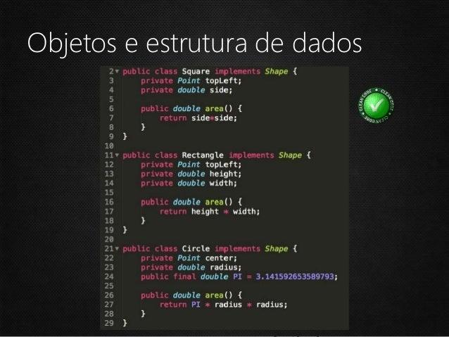 Objetos e estrutura de dados Um método M de uma classe C só conhece: • Métodos de C • Objetos criados por M • Objetos pass...