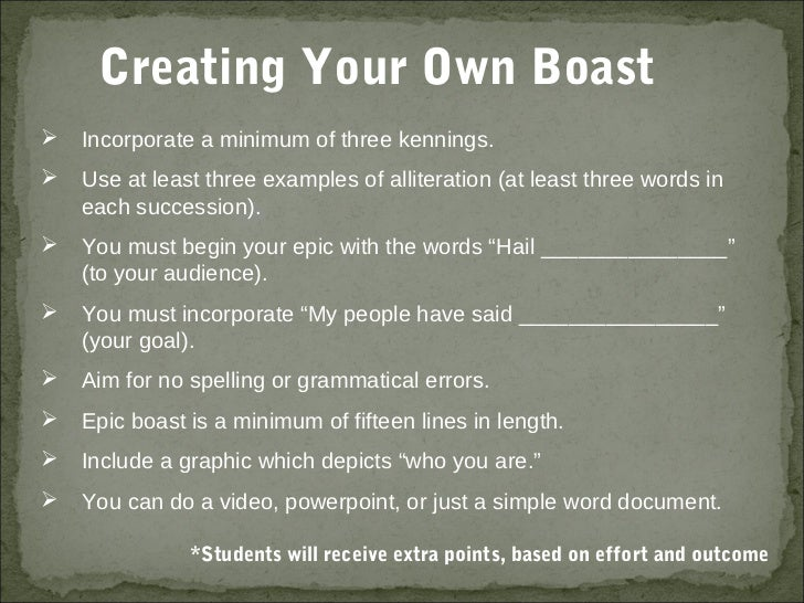 How to Write a Boast Poem