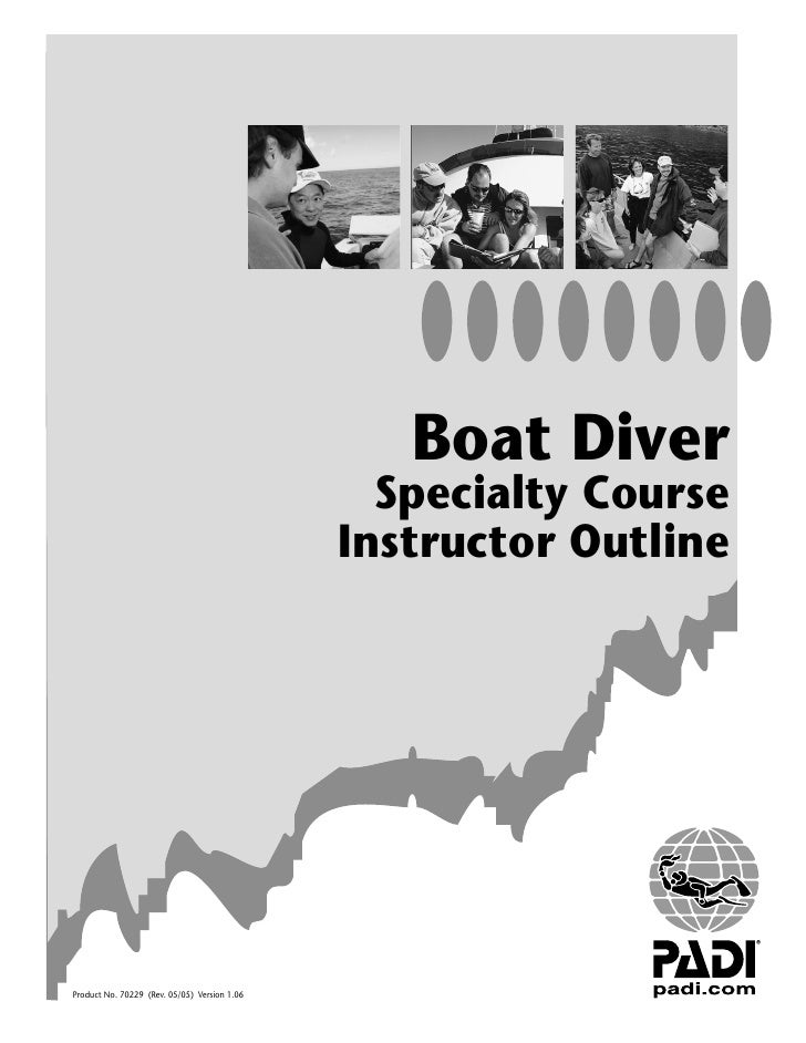 Boat Diver                                                 Specialty Course                                               ...