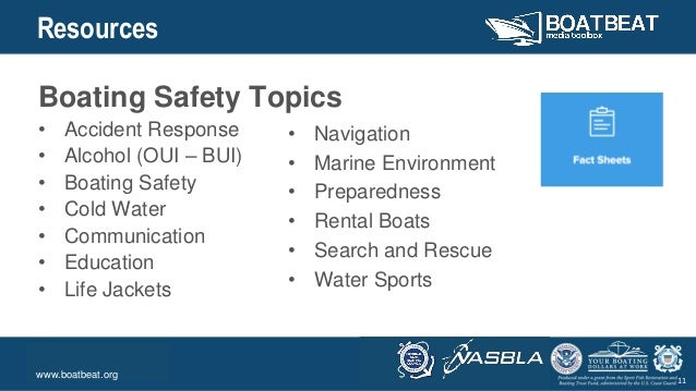 Body Level One Body Level Two Body Level Three Body Level Four Body Level Five 11 Resources Boating Safety Topics • Accide...