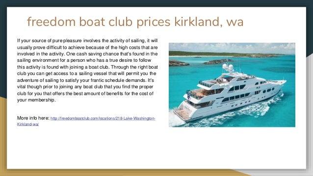 Freedom Boat Club Kirkland, WA