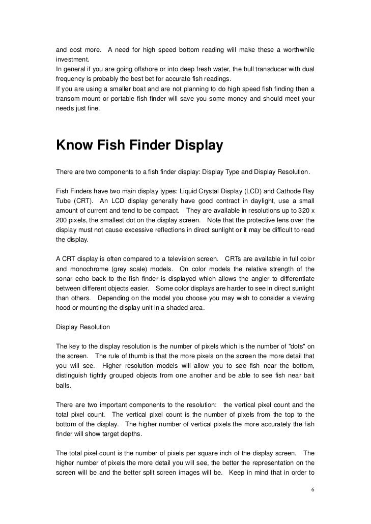 boat fish finder guide, Fish Finder