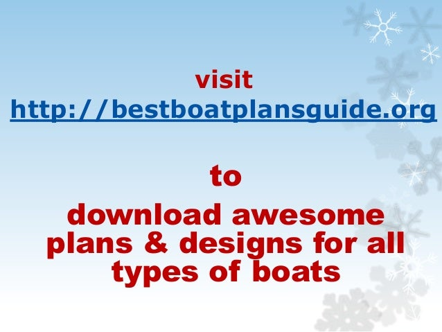 Layout and Plans for all Types of Boats