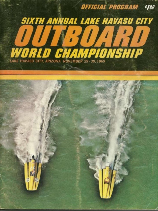 Vintage Power Boat Racing Program Havasu 1967 Slide 2