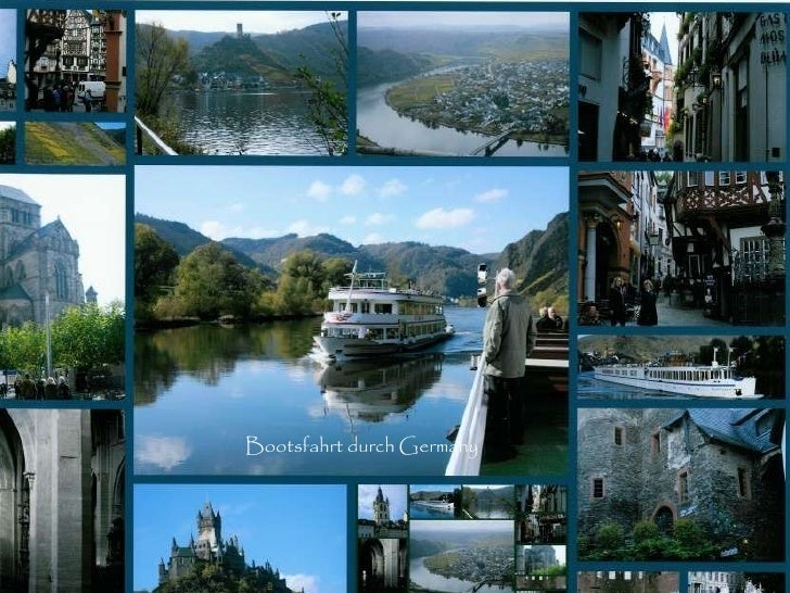 A Boat Trip Through Germany Bootsfahrt durch Germany