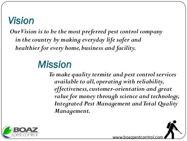 Boaz pest control services company profile – How to Make Business Profile