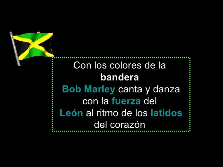 Con los colores de la   bandera   Bob Marley   canta y danza con la  fuerza   del  León   al ritmo de los  latidos  del co...
