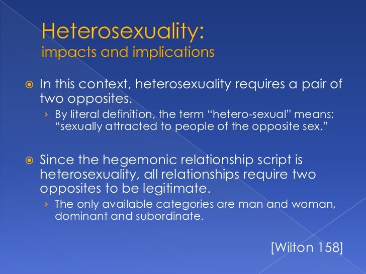 Hetrosexual definition