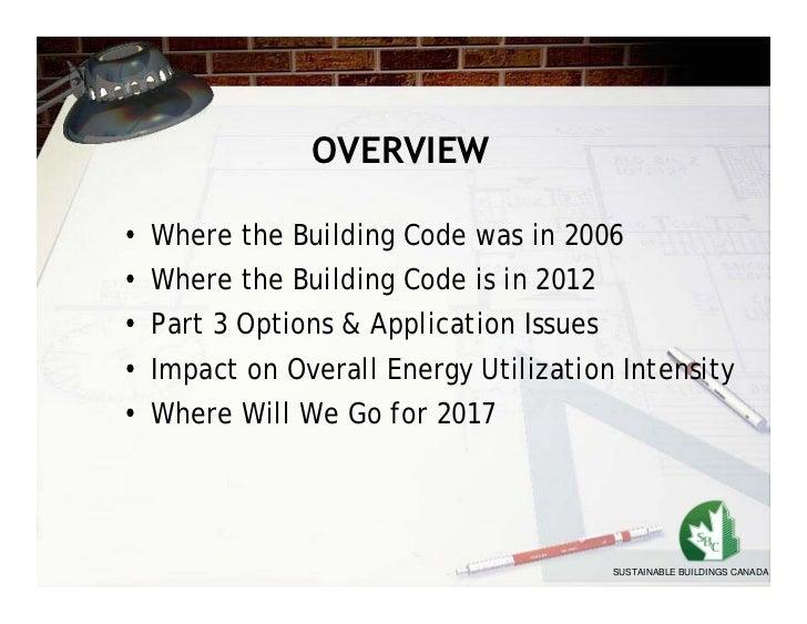 Bob Bach: Energy Efficiency In The Ontario Building Code
