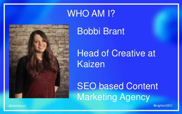 Bobbi Brant at Brighton SEO: How to Use Live Video in Content Marketing Slide 3