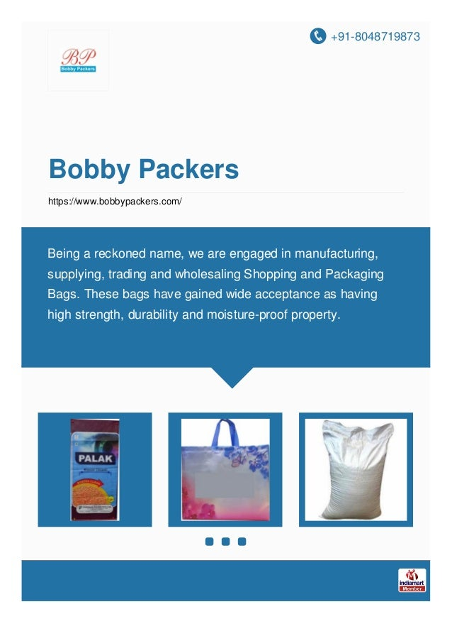 +91-8048719873 Bobby Packers https://www.bobbypackers.com/ Being a reckoned name, we are engaged in manufacturing, supplyi...