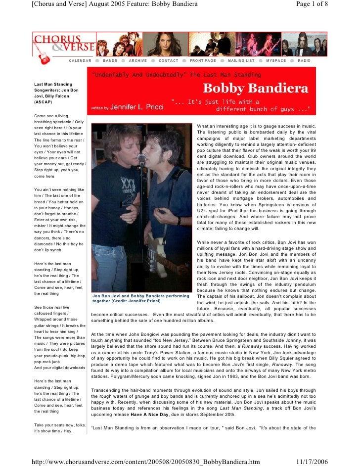 [ChorusandVerse]August2005Feature:BobbyBandiera                                                                   ...