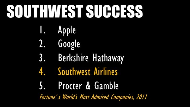 the secret to the success of southwest airlines Gary kelly, chairman, president and ceo of southwest airlines, talks success,  culture and business approaches  what's their secret  known for its high- quality customer service, southwest airlines has stayed true to its.